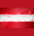 polygonal background austria low poly flag vector image vector image