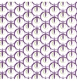 Print circle lines mosaic repetition pattern vector image vector image