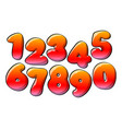 red numerical digits vector image