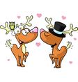 reindeer in love vector image vector image