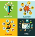 Research science and brainstorm flat concepts vector image vector image