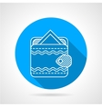 Round flat icon for ornate wallet vector image vector image
