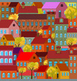 seamless pattern with decorative colorful houses vector image vector image