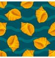 Seamless patterns with seashells vector image vector image