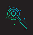 search molecules icon design vector image