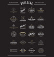 set construction building icons home and vector image