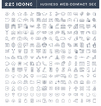 Set Flat Line Icons Business SEO WEB and Contact vector image vector image
