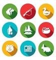 Set of Hunting Icons Dog Gun Duck vector image vector image