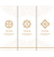 set of luxury golden emblems vintage elements vector image vector image