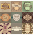 Set of vintage backgrounds vector image vector image