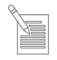 sheet with pencil vector image vector image