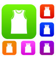 singlet set collection vector image vector image
