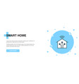 smart home line icon simple icon banner outline vector image