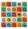 Smiley faces icon set vector image vector image
