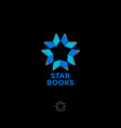 star books logo digital library chat community vector image vector image