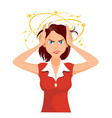 stressed and frustrated business woman at work vector image