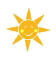 sun icon symbol with doodle handdrawn cartoon vector image vector image