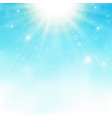 sunburst center on blue sky background vector image