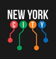t-shirt design in concept new york city vector image vector image
