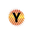 technology letter y vector image vector image