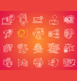 thin line icons set business elements vector image vector image