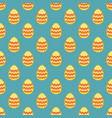 tile pattern with easter eggs on blue background vector image