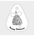 Toys on christmas tree - Bell Christmas vector image