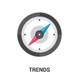 trends icon concept vector image vector image