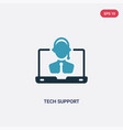 two color tech support icon from web hosting vector image vector image