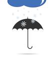 umbrella with snow color vector image