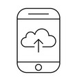 uploading to cloud storage using smartphonemobile vector image vector image