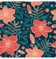 Vibrant Tropical Hibiscus Flowers Seamless vector image