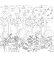 vintage garden banner with root veggies coloring vector image vector image