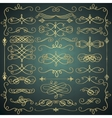 Vintage Hand Drawn Golden Swirls Collection vector image vector image