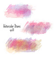 watercolor stains collection isolated on white vector image vector image