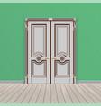 white double entrance door vector image vector image
