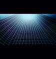wireframe landscapetechnology background vector image vector image