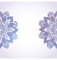 with watercolor violet floral vector image