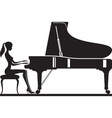 woman playing piano on stage vector image