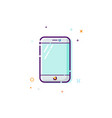 concept of mobile phone icon thin line flat vector image