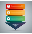 Infographic concept template with 3 steps vector image