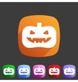 Halloween pumpkin icon flat web sign symbol logo vector image