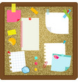 paper sheets sticky notes stickers hanging on vector image