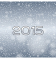 2015 falling snow blue vector image