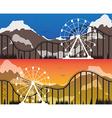 a set banners for amusement park vector image
