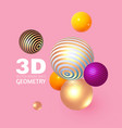 abstract 3d geometric render background realistic vector image