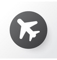 airplane in the sky icon symbol premium quality vector image vector image