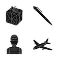 and other web icon in black style training vector image vector image