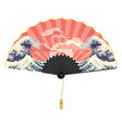 asian fan with seascape vector image