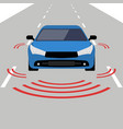 autonomous car icon drive sensor digital vector image
